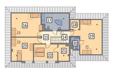 RZUT PODDASZA POW. 65,6 m²